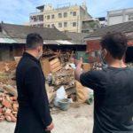 扎根地方    陳柏惟帶領服務團隊與沙鹿熱血青年為貧困家庭清理家園