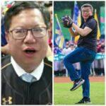 蔡其昌兌現去年承諾發雞排     邀請鄭文燦看球賽為兄弟隊加油