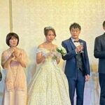 游錫堃為楊三雄兒子證婚   期勉新人要甜言蜜語才會甜蜜蜜
