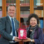 英國駐台代表鄧元翰拜會監察院,盛讚陳菊對台灣民主的貢獻